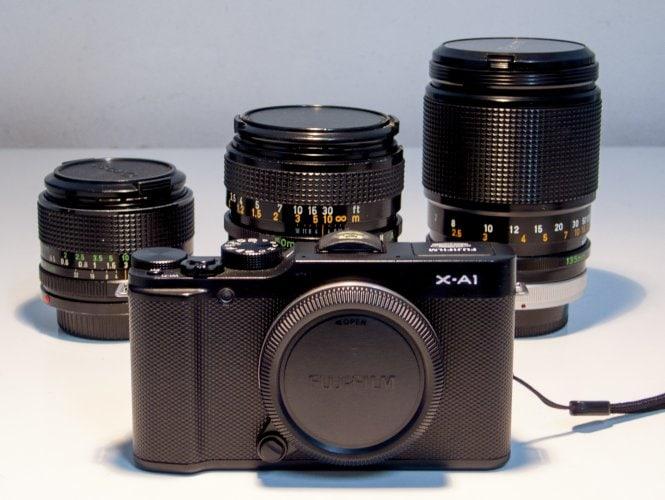 Fuji X-A1 y lentes manuales