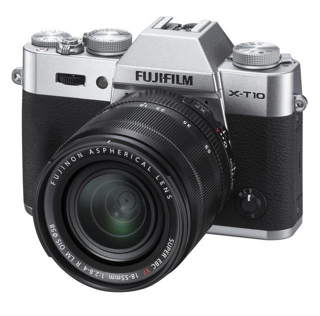 Fujifilm X-T10 plata con 18-55mm