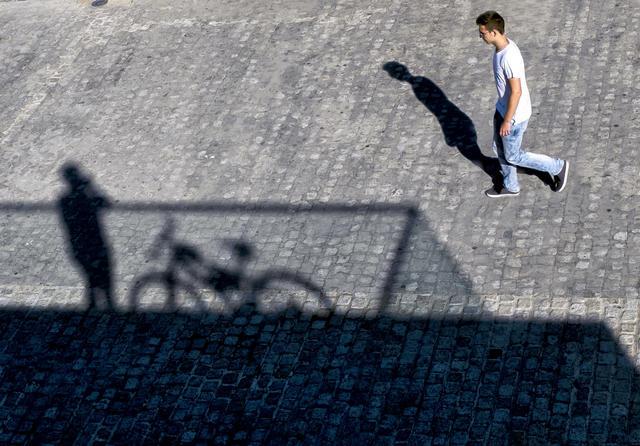 """""""Caminante"""" por Luis Fernández, con Fuji X20."""