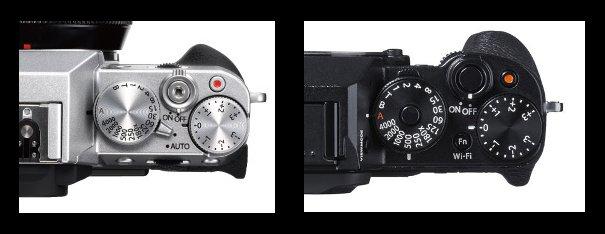 Diales X-T10 versus X-T1