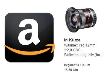 Samyang 12mm en Amazon DE