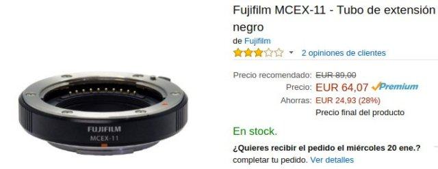 Tubo extensión Fuji MCEX-11 en Amazon.