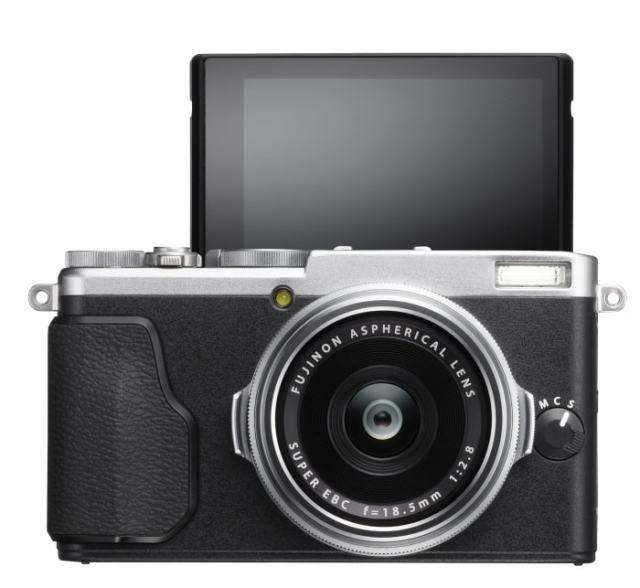 Fuji X70 pantalla selfie