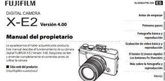 Manual de la X-E2, firmware 4.0.