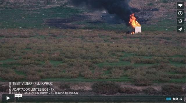 Captura de la prueba de vídeo con la X-Pro2 de Santi Veiga.