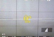 Icono de bloqueo en la Fujifilm X-T10.