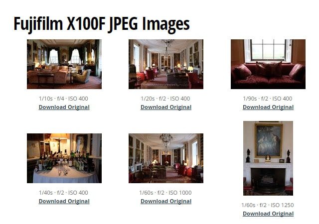 Galería de la Fuji X100F.