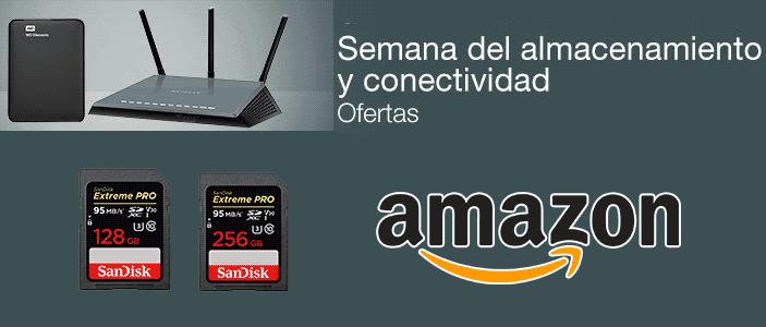 Semana del almacenamiento y conectividad en Amazon.