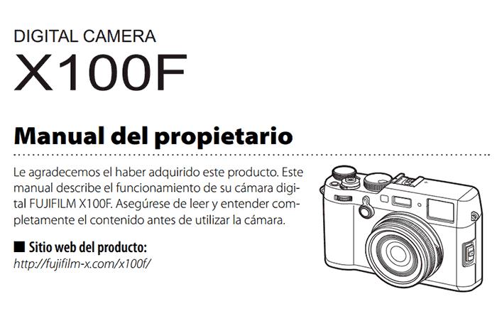 Manual de la Fujifilm X100F.