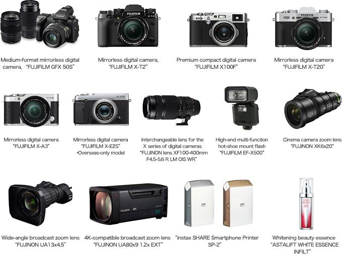 Los productos de Fujifilm premiados en los iF Awards de 2017.