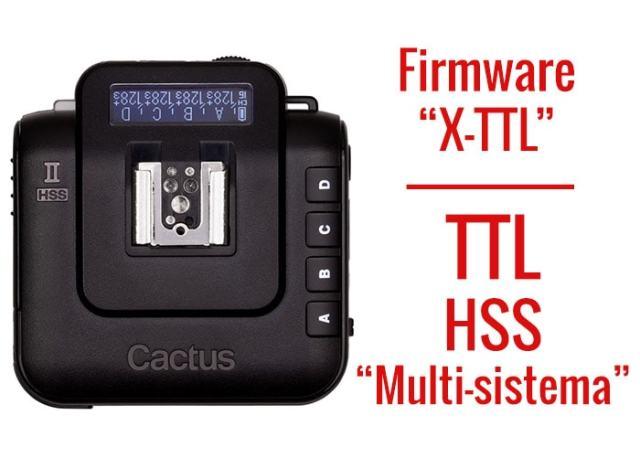 Cactus V6 II, firmware X-TTL