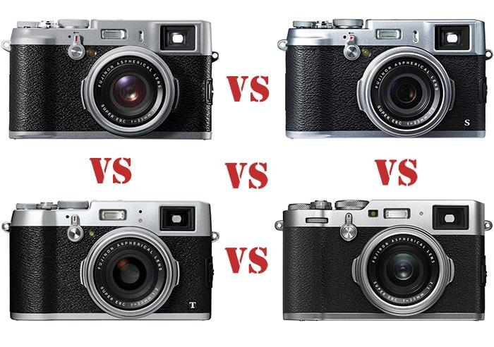 Comparando las características de la Fujifilm X100F frente a X100T, X100S y X100