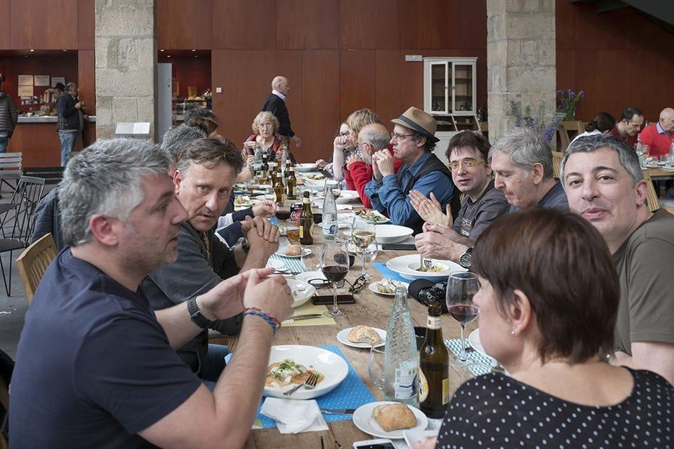Una escena de la comida en el restaurante Norai Raval.