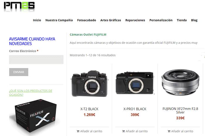 Tienda de productos reacondicionados de la web de P2MS.