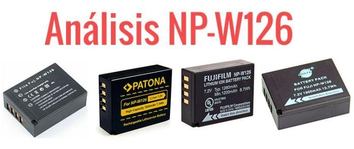 Análisis de baterías NP-W126