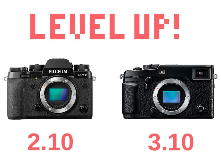 Firmware 2.10 para X-T2 y 3.10 para X-Pro2.