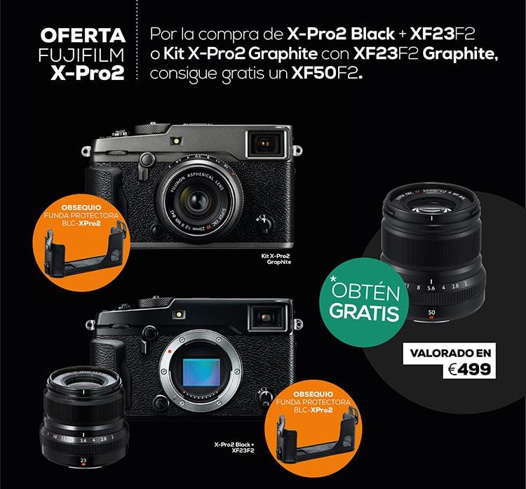 Promoción regalo XF 50mm F2 por compra X-Pro2 + XF 23mm