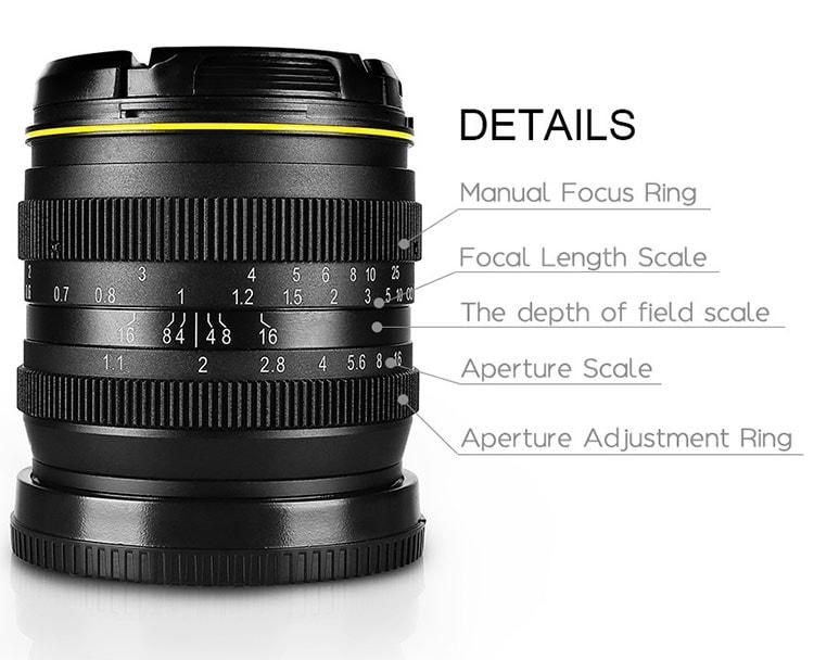 Kamlan 50mm f/1.1 características