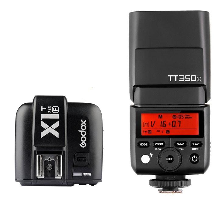 Godox X1T-F en pre-venta y Godox TT350F en stock, combo TTL y HSS asequible
