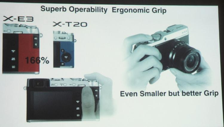 Agarre del pulgar con la Fuji X-E3.
