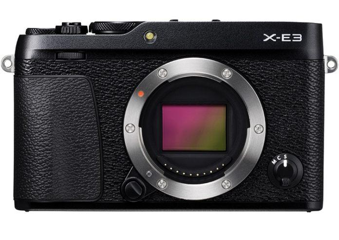 Fujifilm X-E3 frontal y sensor.