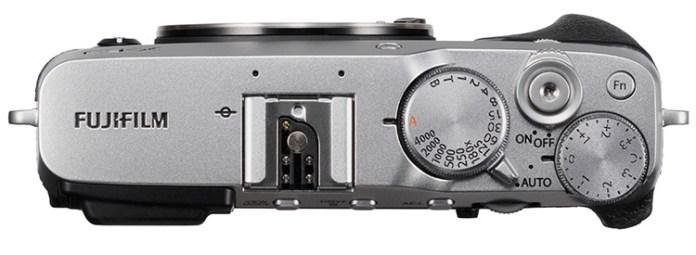 Fujifilm X-E3 vista desde arriba.