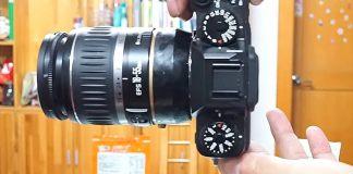 Adaptador Canon EF a Fuji X con autoenfoque,