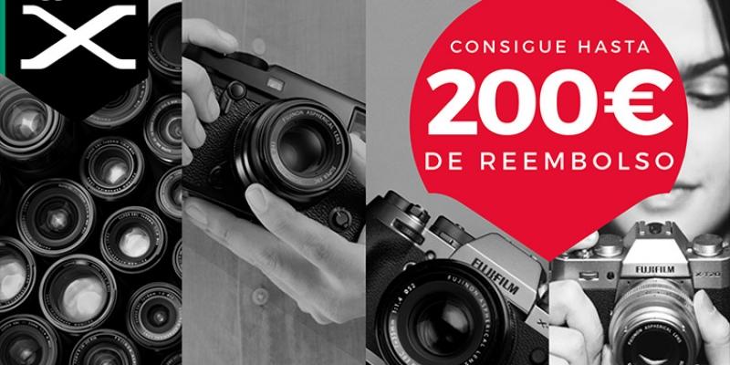 """Nueva promoción """"cashback"""" de Fujifilm: hasta 200 de reembolsos en cámaras y ópticas"""