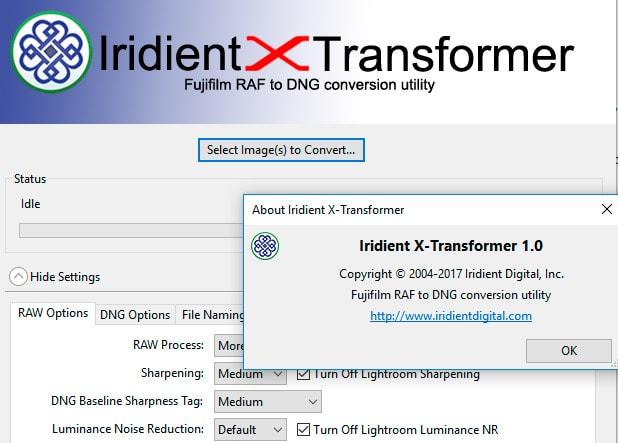 Iridient X-Transformer 1.0 versión final.