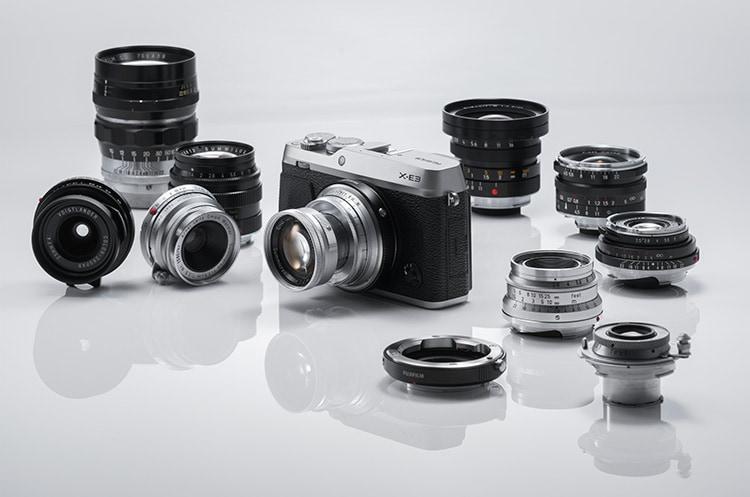 Fujifilm X-E3 con ópticas de montura Leica M.