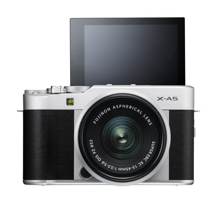 X-A5 negra con la pantalla abatible 180º.