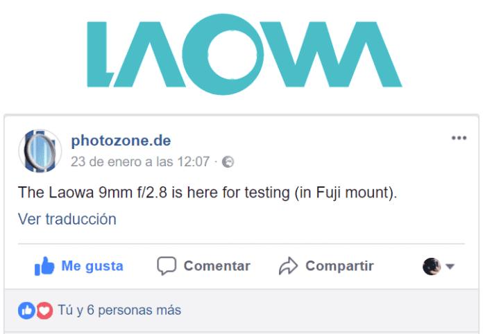 """El Laowa 9mm f/2.8 para montura X de Fuji está en las garras del """"tester"""" de Photozone.de."""