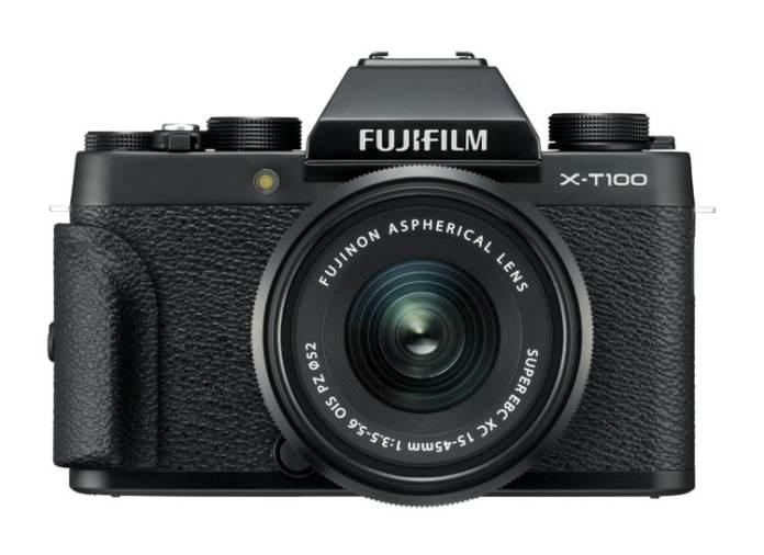 Fujifilm X-T100 + XC-45mm + grip.