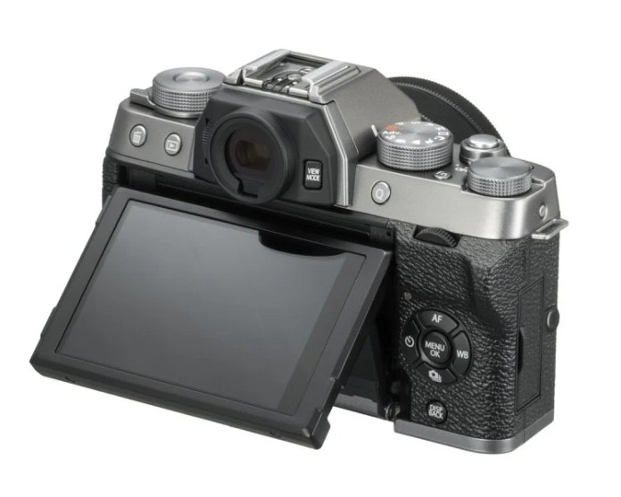 Fujifilm X-T100 pantalla abatible.