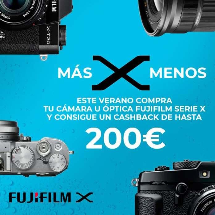 """Promoción """"más X menos"""" de Fujifilm."""