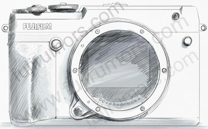 Fujifilm GFX 50R frente.