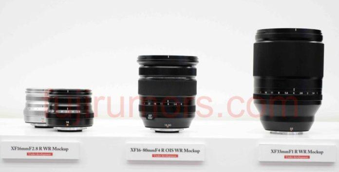 Fujinon XF 33mm F1 junto a XF 16mm F2.8 y XF 16-80mm F4.