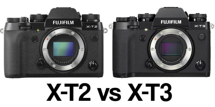 Fujifilm X-T2 frente a Fujifilm X-T3.