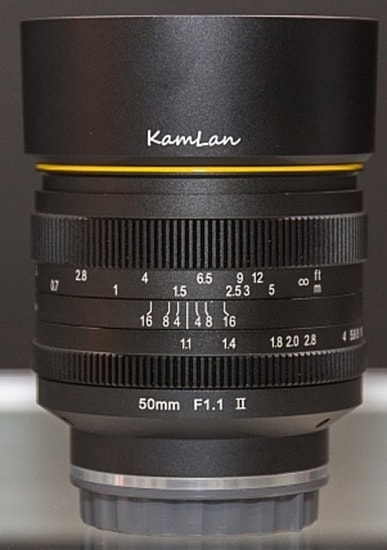 Kamlan 50mm f/1.1 mark II vía mobile01