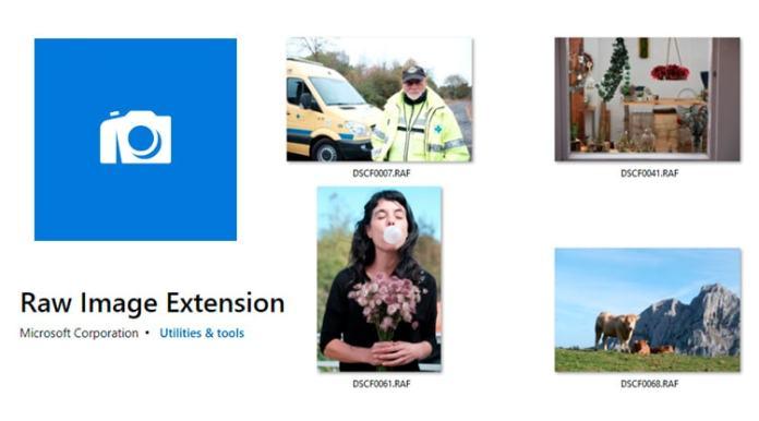 RAW File Extension para Windows 10