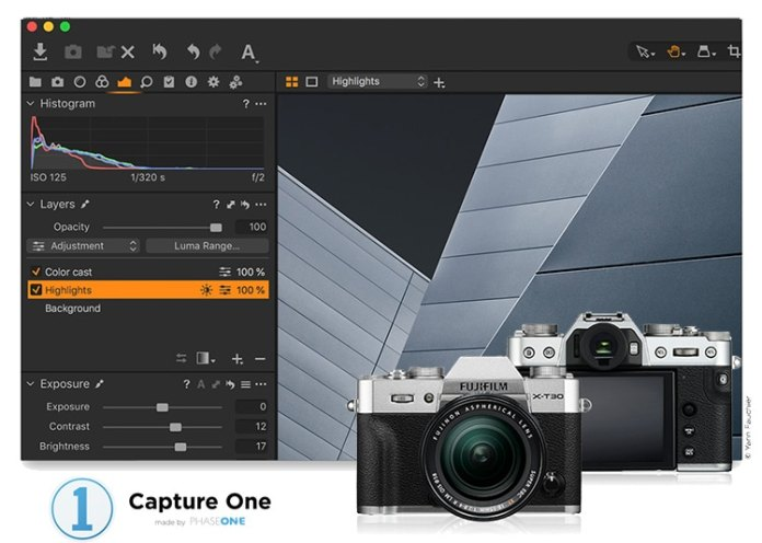 Capture One 12 compatible con Fuji XT30.