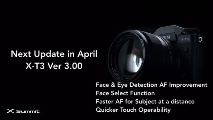 Novedades del firmware 3.00 para la X-T3.