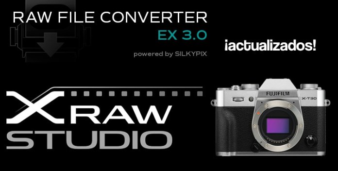 X Raw Stuido y Raw File Converter, compatibles con X-T30