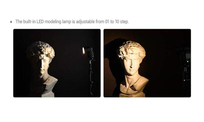 Godox V1 luz modelaje.