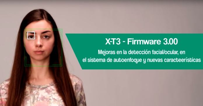 Descarga del firmware 3.00 para la Fuji X-T3.