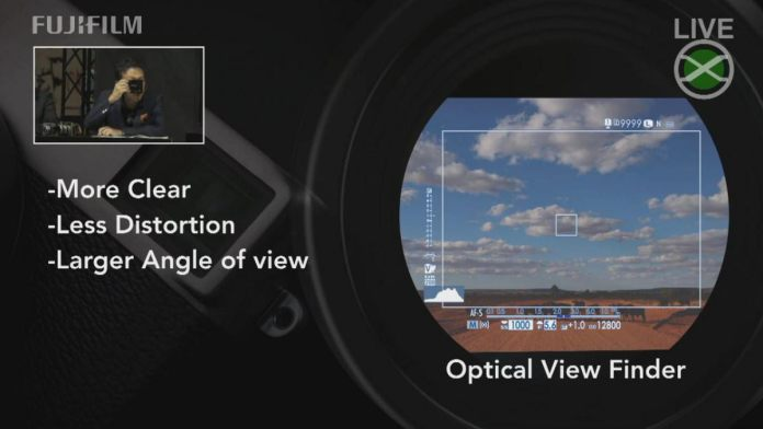 Mejoras en el visor óptico de la X-Pro3.