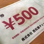 西松屋チェーンの株主優待(2016年2月20日基準)