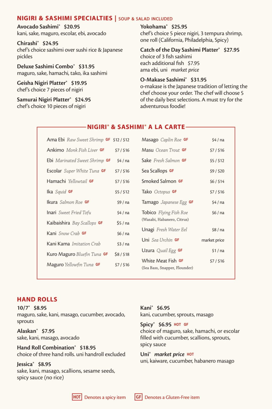 Fuji Sushi Bar Full Menu - Page 3