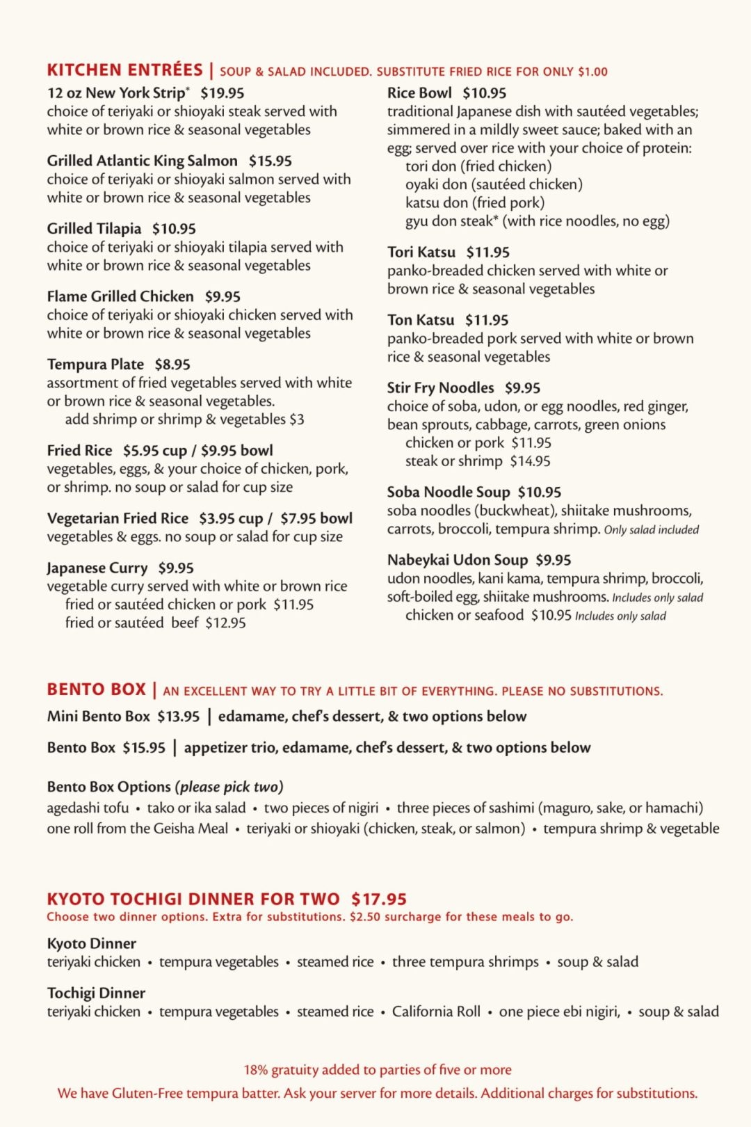Fuji Sushi Bar Full Menu - Page 6