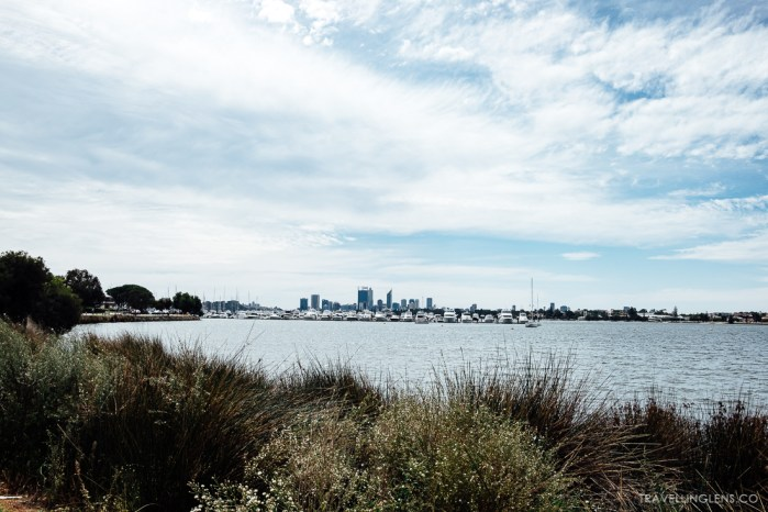 View of Perth city from afar